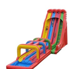 China Gold Supplier factory inflatable slide with obstacle pool 3in1 for sale