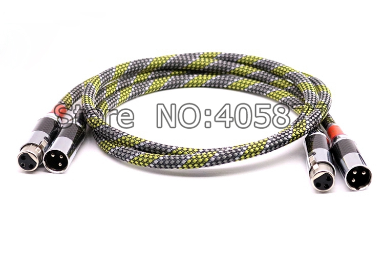 A Pair 1M Siltech G5 Silver Plated Audio Balanced Cable HIFI XLR Plug Cable audiophile kable