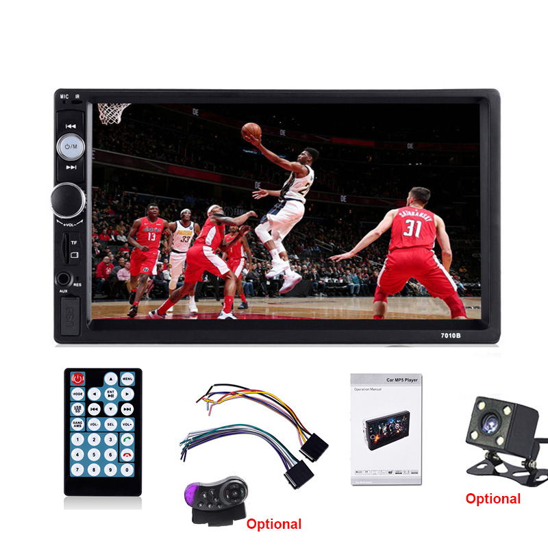 Essgoo 7 2 Din Car Radio Touch Screen Audio Stereo Bluetooth USB FM Autoradio Vehicle Multimedia MP5 Player Remote Control