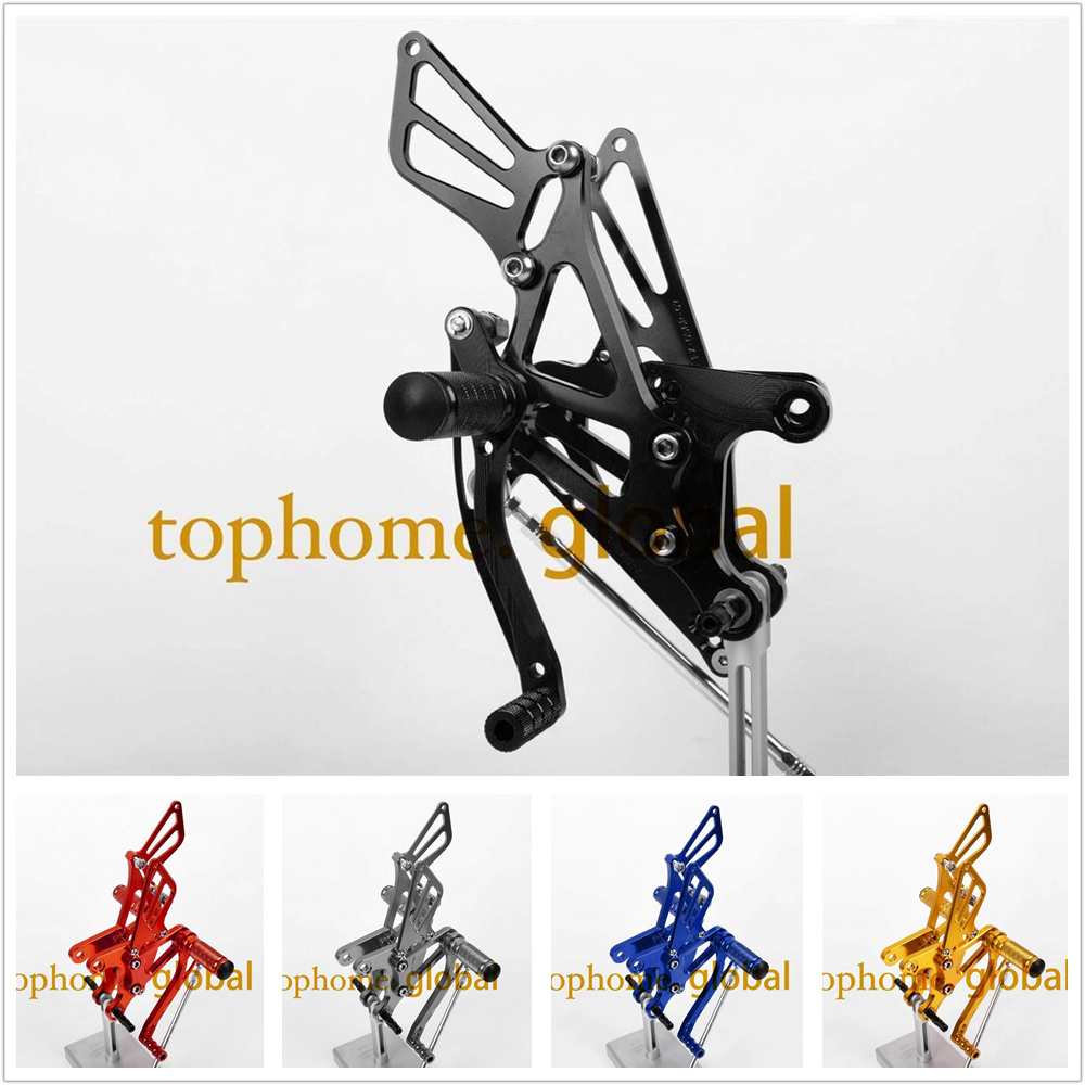 CNC Rearsets Foot Pegs For Kawasaki ZX6R 2005 2006 2007 2008  Footpeg Rear Brake Shift Set