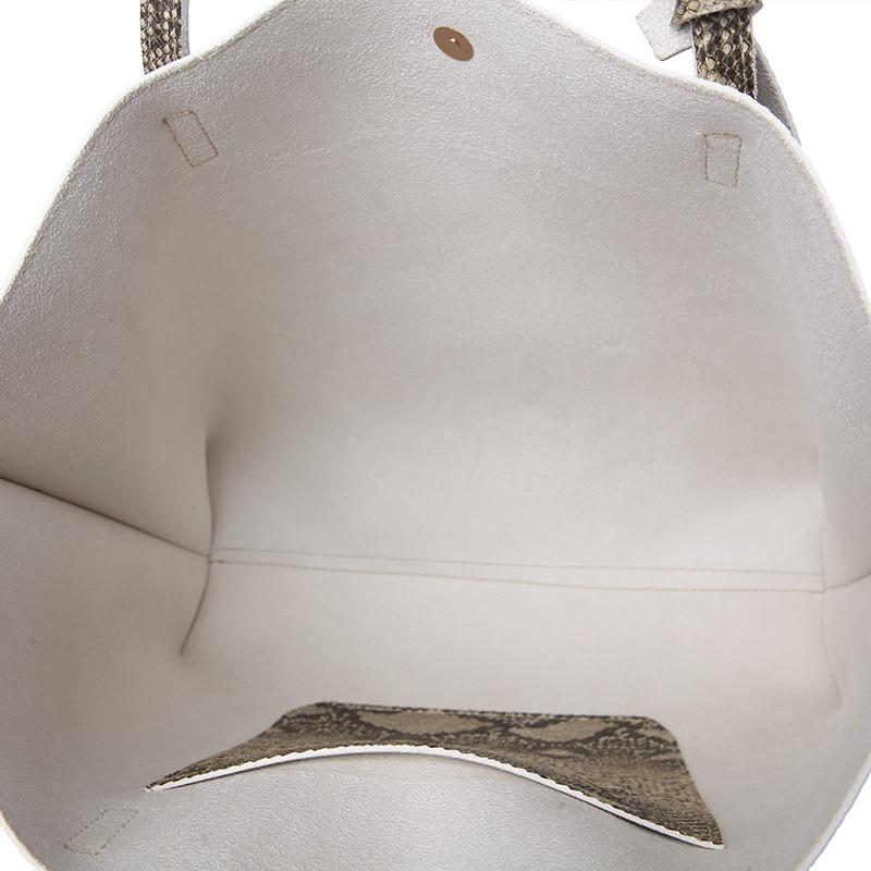 Ankareeda Luxury Brand Serpentine Women's Soft Leather Handbag High Quality Women Shoulder Bag Fashion Tassel Women's Handbags 5