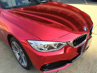 1.52*18m Red Chrome Mirror Vehicle Wrapping Stickers Foil Glossy Vinyl Film Car Body Decoration Vinyl Wrap
