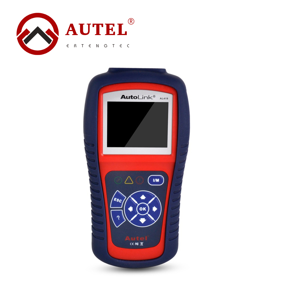 ФОТО AutoLink AL419 Car Diagnostic Scan Tool Autel OBD II & CAN Code Reader AL-419 Free Online Update With Troubleshooter Code Tips