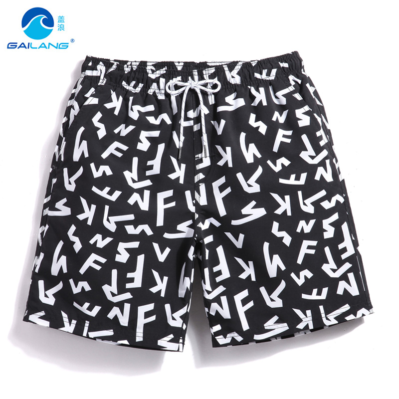 Men's summer bathing suit swimming trunks swimsuit beach   shorts   liner loose trunks surfing   board     shorts   sexy plavky mesh