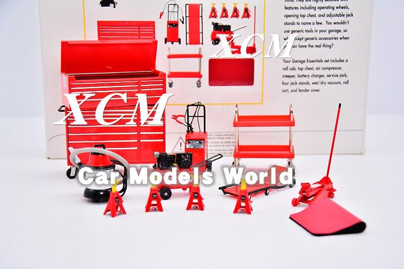 Oyuncaklar ve Hobi Ürünleri'ten Pres Döküm ve Oyuncak Araçlar'de Model Ölçeği Minyatürleri Garaj Essentials Kiti 1:18 (Kırmızı) + KÜÇÜK HEDIYE!!!'da  Grup 1