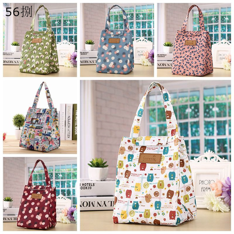 1pcs Storage Bag Canvas Durable Waterproof Material Portable Insulated Thermal Cooler Lunch Box Carry Tote Picnic Case WSY9077