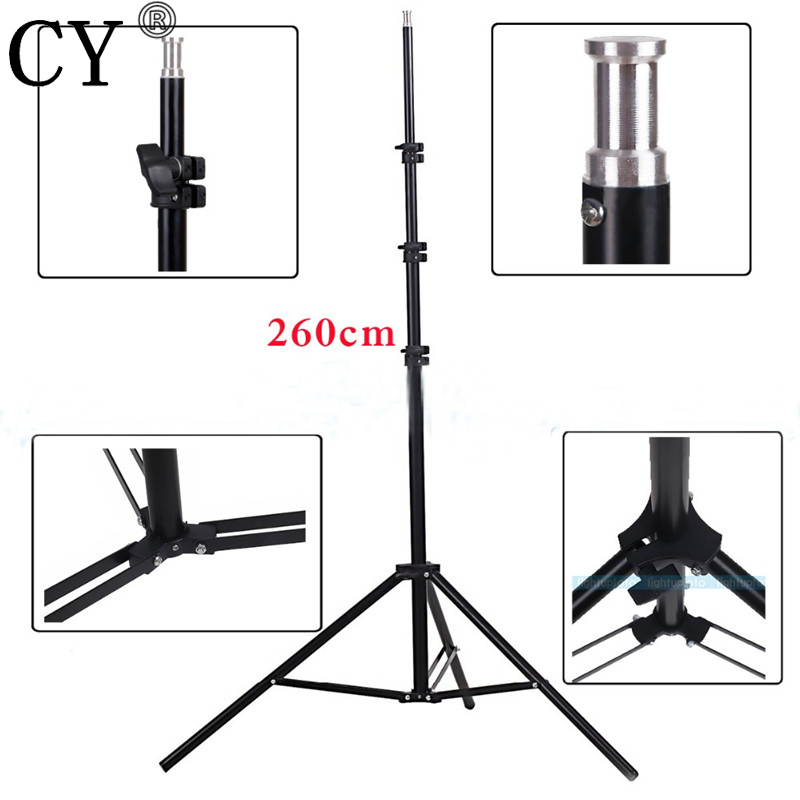 CY High Quality 260cm Photo Video Light Stands Photography Studio Light Stand Tripod Photo Studio Accessories