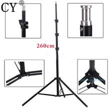 CY Haute Qualité 260 cm Photo Video Lumière Stands Photographie Studio Light Stand Trépied Photo Studio Accessoires Vente Chaude