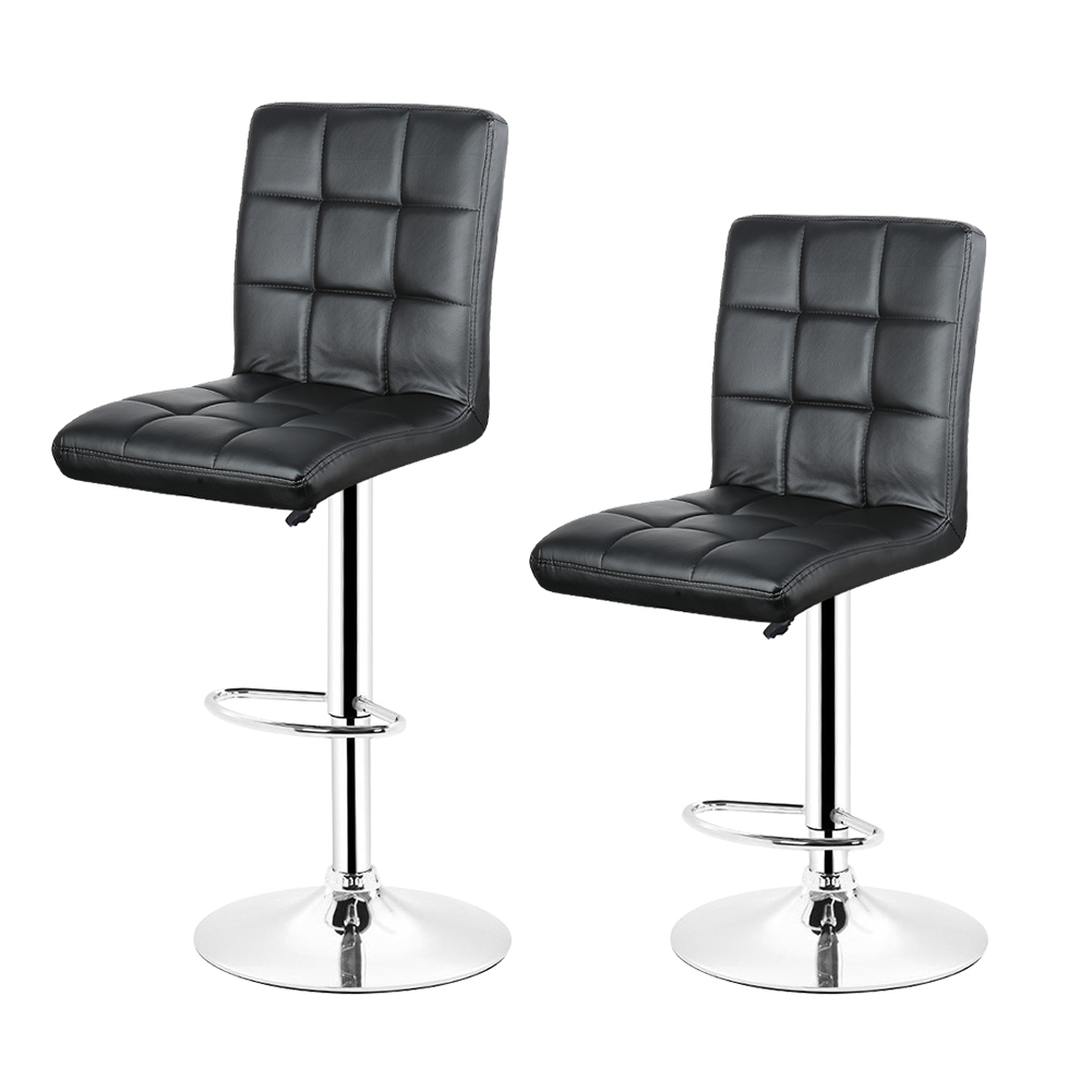 DOORSACCERY FR 2PCS/Set Black PU Leather Swivel Bar Stool Height Adjustable Counter Pub Chair Barstools Modern Style JSX литой диск replica fr lx 98 8 5x20 5x150 d110 2 et54 gmf