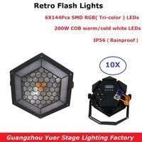 10Pcs/Lot Par LED 200W COB Disco Lights Wash Lighting Effect Dj Light Equipments DMX 512 Controller LED Uplights Stage Light