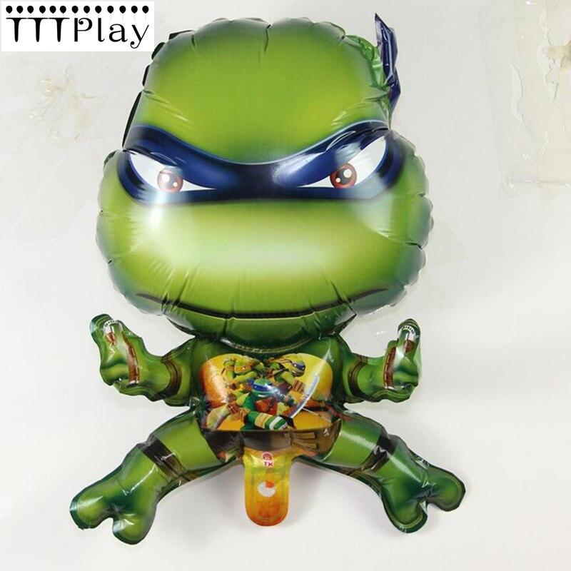 Hot Sale 65*49CM Teenage Mutant Ninja Turtles Foil Balloon TMNT Inflatable Helium Aluminium Ballon Happy Birthday Party Supplies