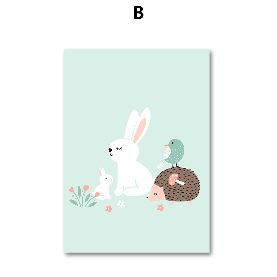 aliexpress com buy 7 space friendship of animals wall art nordic