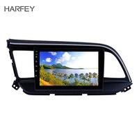Harfey Android 8,1 сенсорный экран GPS навигация 9 дюймов автомобильное радио для hyundai Elantra 2019 с USB wifi AUX поддержка Carplay SWC