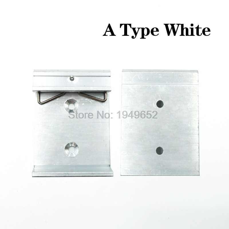 35mm DIN מדריך אבזם אלומיניום סגסוגת Slideway אבזם C צורת אבזם פשוט מתלה קיבוע עם חורי הרכבה