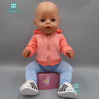 Doll clothes fits 43cm Baby Born Zapf doll   accessories   fashion   sports   and leisure suit jacket + stretch pants