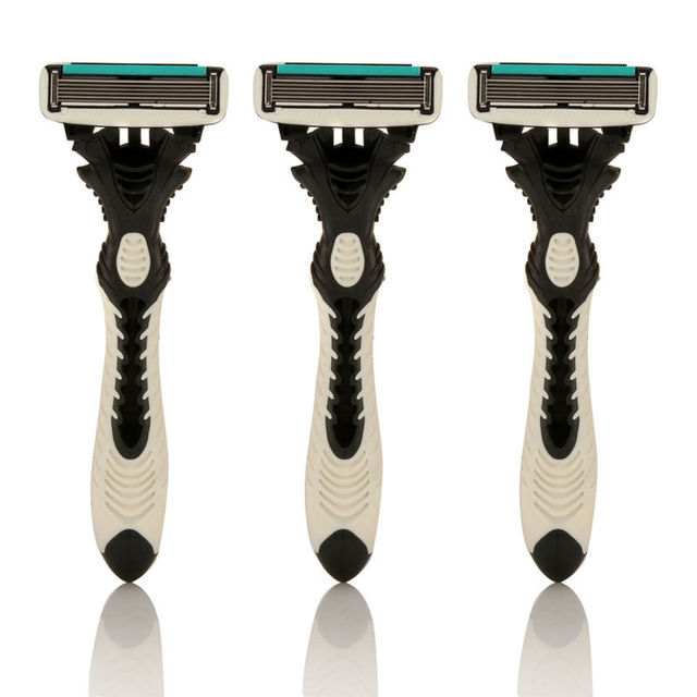 Professional 3pcs/pack Quality Shaving Machine 6-Layer Safety Razor Blades Manual Shaving Shaver Face Care Beard Hair Remover