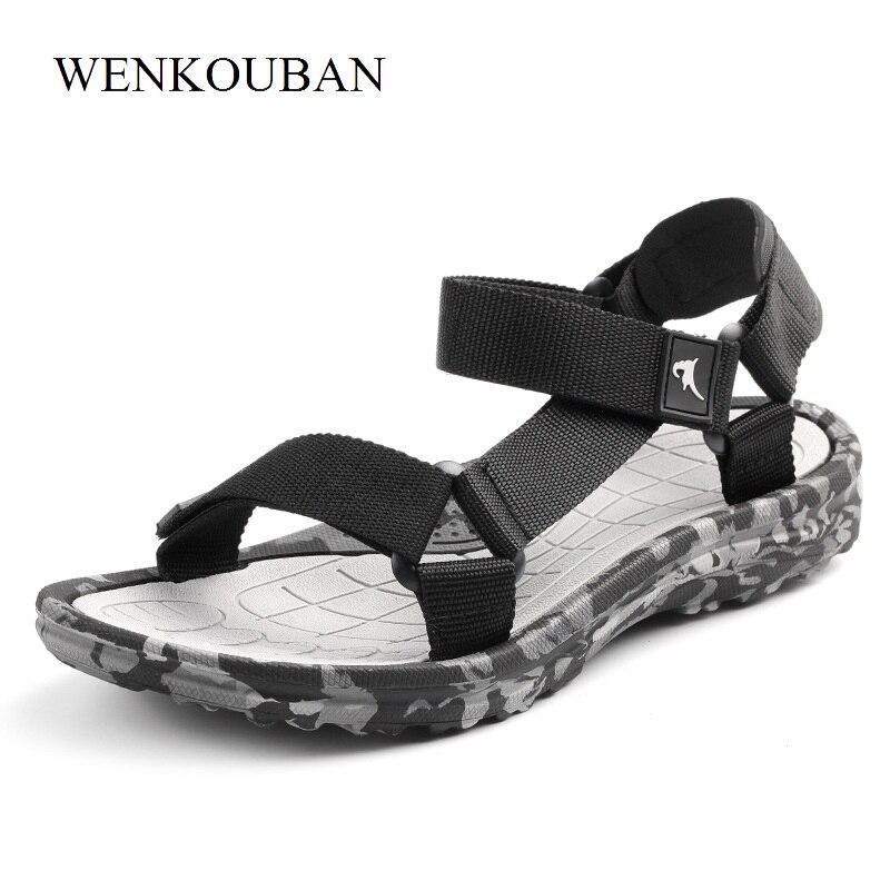 Summer Men Sandals Gladiator Beach Shoe Male Camouflage Water Slippers Fashion Sport Flat Flip Flops Outdoor sandalia masculina