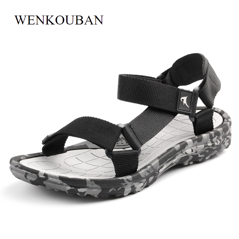 Summer Men Sandals Gladiator Beach Shoe Male Camouflage Water Slippers Fashion Sport Flat Flip Flops Outdoor sandalia masculina