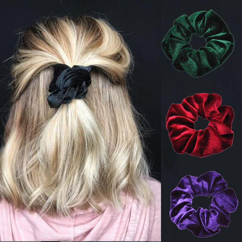 Apparel Accessories Awaytr Solid Snake Print Scrunchie For Women Hair Tie Elastic Hair Bands Soft Scrunchies Tie Rubber Girls Hair Accessories