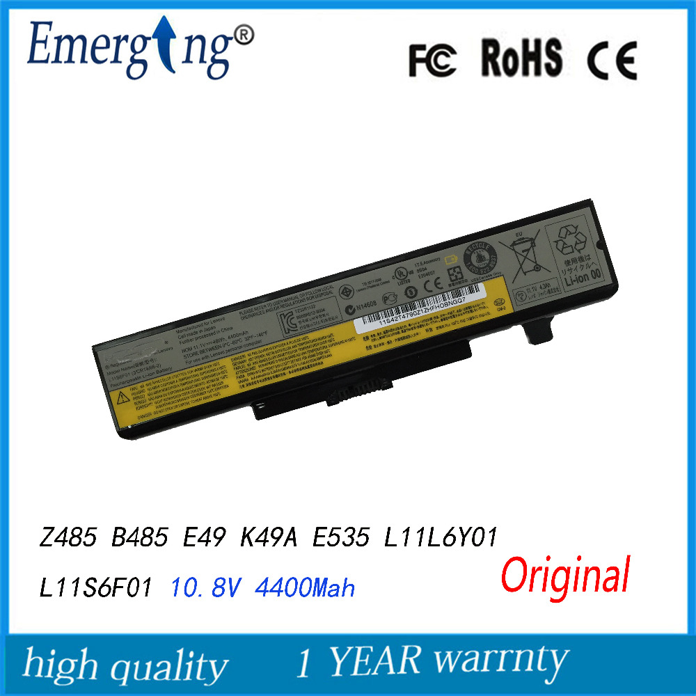 10.8V 48WH Original New Laptop Battery for Lenovo IdeaPad Y480 G480 G580 V580 L11L6F01 L11L6R01 L11L6Y01 jigu new battery l11l6y01 l11s6y01 for lenovo y480p y580nt g485a g410 y480a y480 y580 g480 g485g z380 y480m