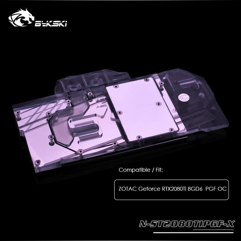 Bykski водяного охлаждения блок использовать для ZOTAC Geforce RTX2080Ti 8GD6 PGF OC, охладитель GPU, 3pin, 4pin свет заголовок, N ST2080TIPGF X