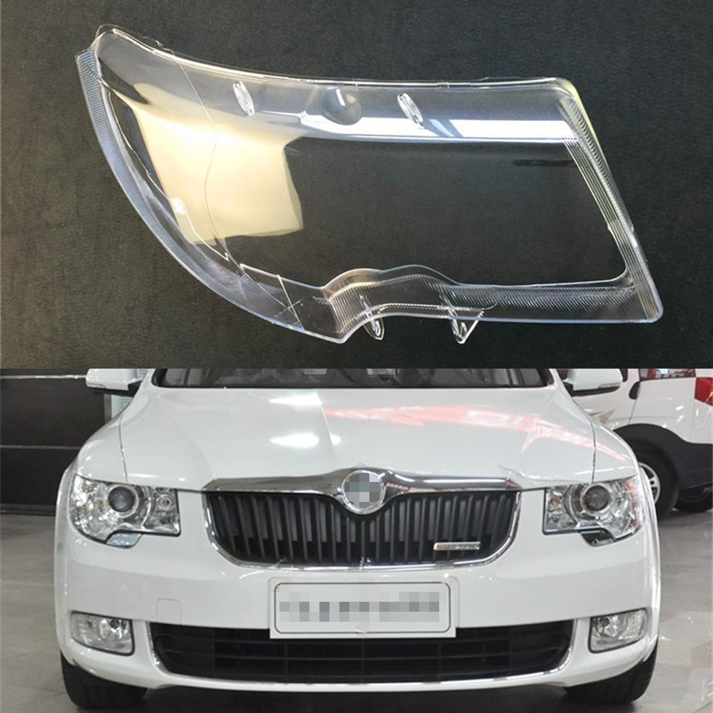 For Skoda Superb 2009 2010 2011 2012 2013 Car Headlight Headlamp Clear Lens Auto Shell Cover