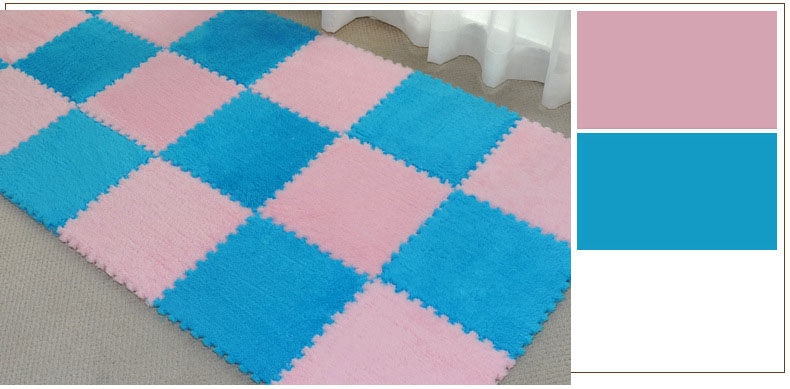 HTB1oIBvgZyYBuNkSnfoq6AWgVXad 1Pcs 30*30cm EVA Plush Puzzle Mats Foam Shaggy Velvet Carpet Decorative Kids Room for Crawling Play Toys 8-Colors(Sample Try)