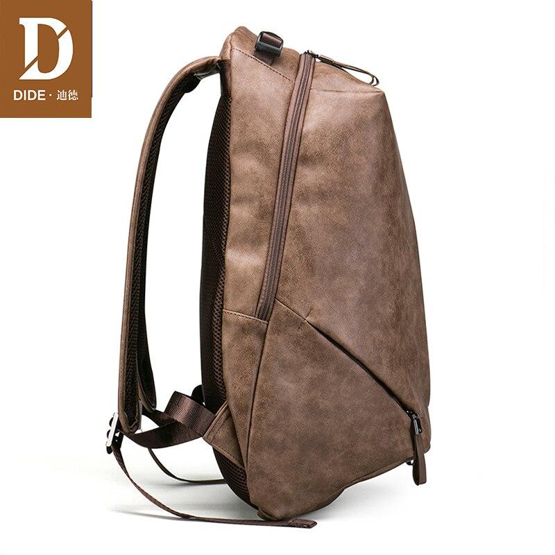 Marque DIDE haute qualité USB charge 15 pouces sacs à dos pour sac d'école mâle Mochila cuir voyage sac à dos pour ordinateur portable hommes - 5