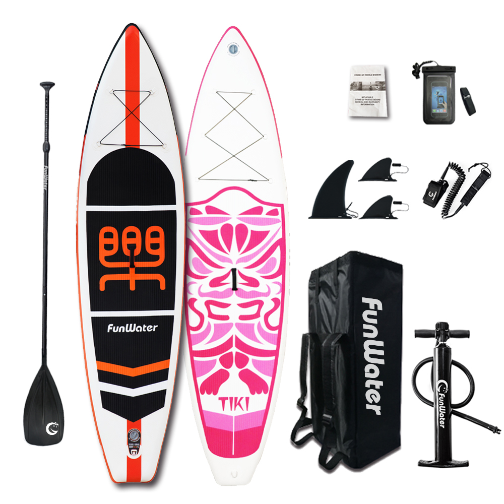 Cadeaux du Jour de Valentine FunWater Gonflable Paddle Board Sup Paddle, Sac, Laisse, Pompe, sac de téléphone stand up paddle surf sup - 3
