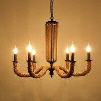110 В 220 В Лофт Утюг веревки подвесные светильники Lampara Lamparas Colgantes Винтаж подвесной светильник как Para Lamparas Lampara Salon 23