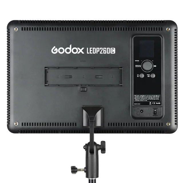 Godox LED P 260C LED panneau lumineux de lampe vidéo 3300K ~ 5600K pour caméra + adaptateur secteur - 3