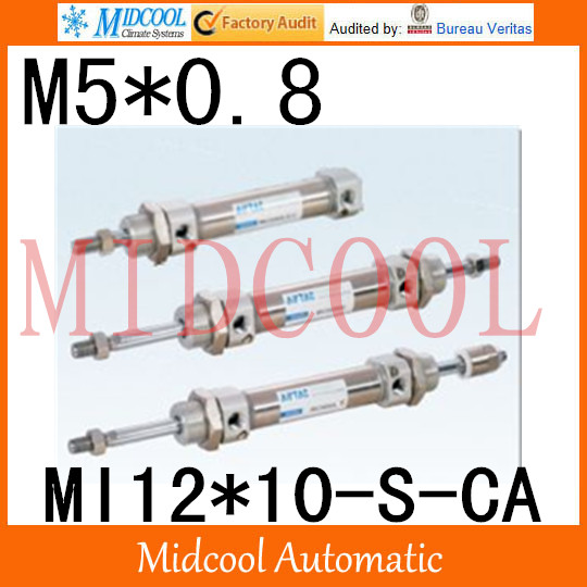 MI Series ISO6432 Stainless Steel Mini Cylinder  MI12*10-S-CA bore 12mm port M5*0.8 купить в екатеринбурге переходник mini iso