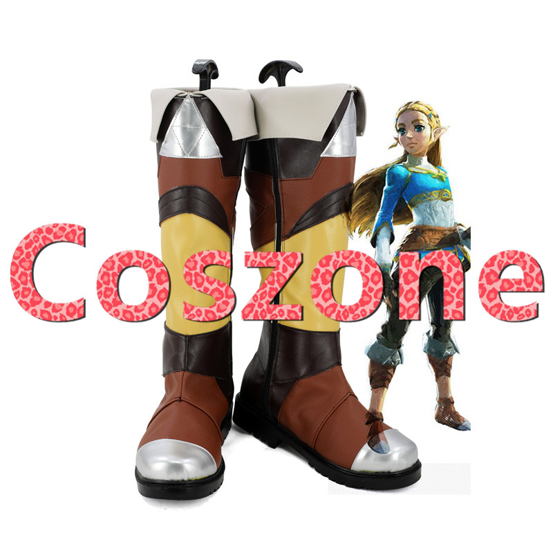 The Legend Of Zelda Breath Of The Wild Princess Zelda Cosplay Shoes Boots Halloween Carnival Party