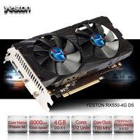 Yeston Radeon RX 550 GPU 4 ГБ GDDR5 128bit игровой настольный компьютер PC Видео Графика карты поддерживают PCI E 3,0