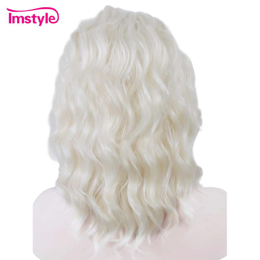 Imstyle Wavy Synthetic Ash blonde highlight color 14