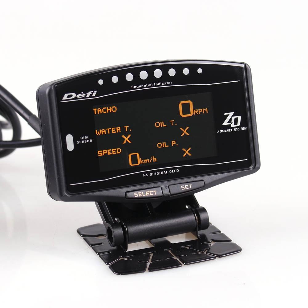 Auto calibro 10 in 1 Nuova Versione DEFI Anticipo ZD Link Meter Contagiri Digitale volt velocità temperatura dell'acqua della pressa di olio boost