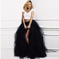 Sexy Black Pleated Skirt High Fashion Side Slit Skirts Woman All The Season Natural Color Tutu Skirt Female Adult Long Skirt