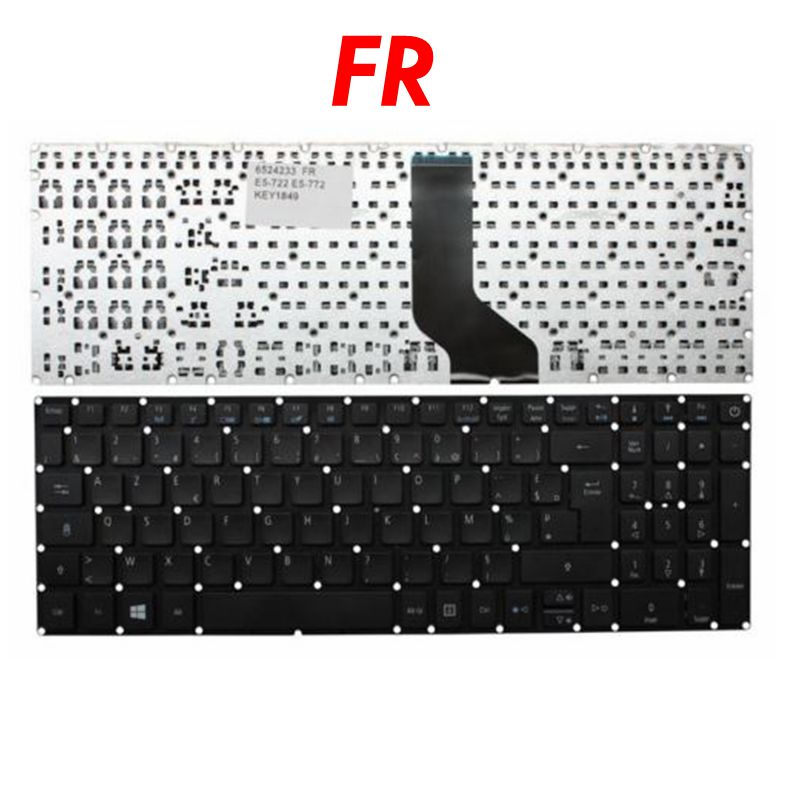 NEW French Azerty Keyboard For Acer ES1-523 ES1-523G ES1-533 ES1-533G ES15 ES1-572 F5-521 F5-522 F15 F5-571 F5-571T F5-571G FR