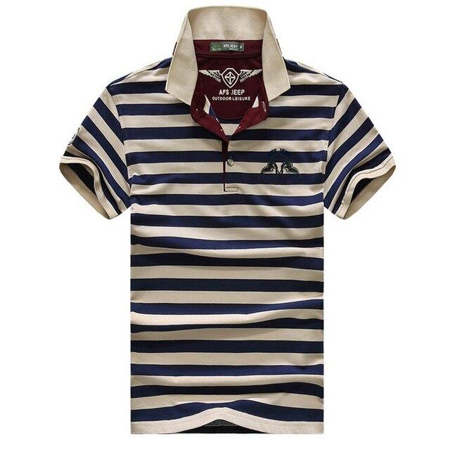 Высокое качество марка мужчины polo рубашка новый летний случайный полосатый хлопок мужская polo solid polo shirt polo ralp мужчины camisa