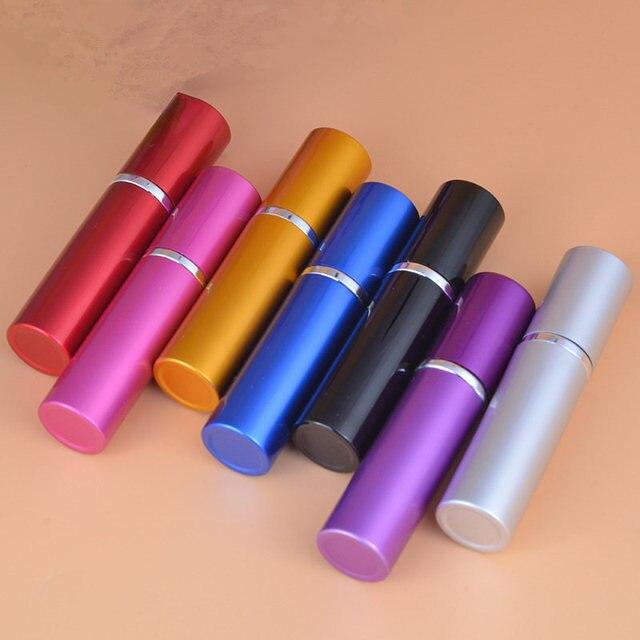 50pcs/Lot 10ml Pump Wholesale 10cc Perfume Bottle Refillable Atomizer Spray Empty Plain Parfums Aluminum Glass Scent Bottle