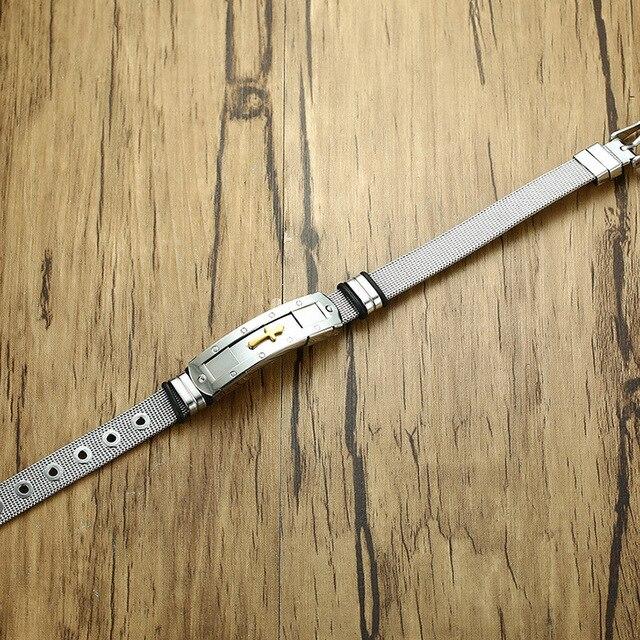 Фото модный мужской браслет из нержавеющей стали ювелирные изделия цена