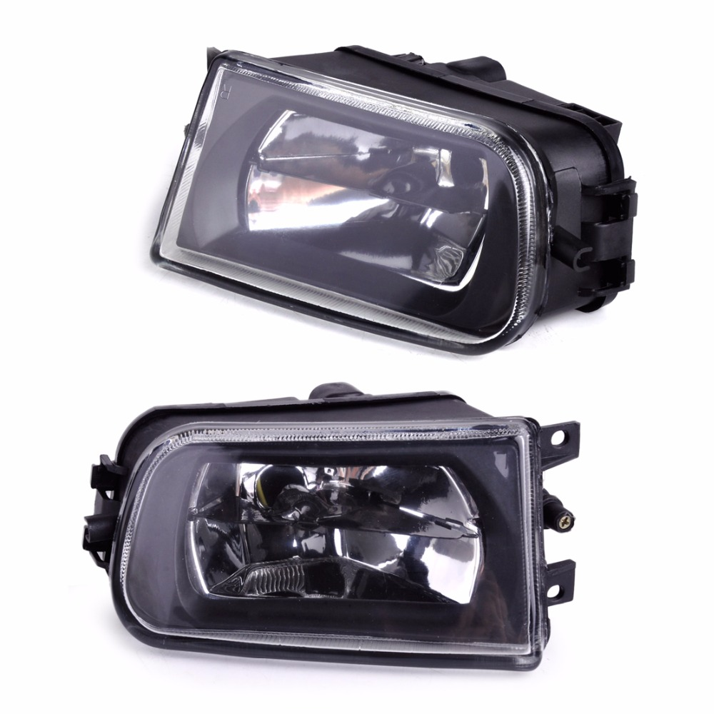 DWCX 2Pcs Right + Left Fog Light Lamp 63178360575 63178360576 for BMW E39 5 Series 528i 540i 535i 1997 - 1999 2000 E36 Z3 2001 2pcs right left fog light lamp for b mw e39 5 series 528i 540i 535i 1997 2000 e36 z3 2001 63178360575 63178360576