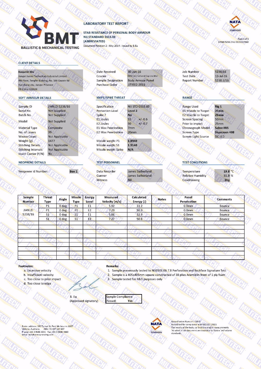 JIANLEI5238.2 NIJ 0115.00 R&D