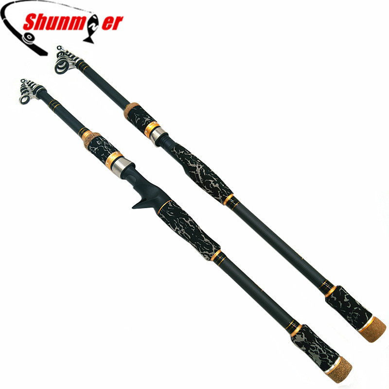 SHUNMIER 1.8m 2.1m 2.4m 2.7m Spinning Casting Fishing Rods MH Power High Carbon Fishing Pole Rod Pesca Tackle Peche Olta