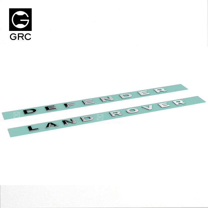GRC land TRX4 RC4WD D90 D110 металлический логотип украшения R/c Запчасти Аксессуары для радиоуправления аксессуар для автомобиля Модель