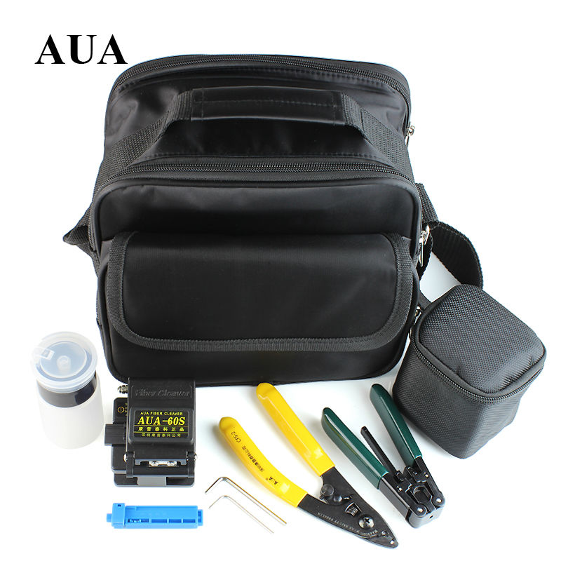 Fiber Optic Tool 7 in 1 FTTH Splice fiber optic tool kits  Fibre stripper +AUA-60S fiber cleaver and tools bag KitFiber Optic Tool 7 in 1 FTTH Splice fiber optic tool kits  Fibre stripper +AUA-60S fiber cleaver and tools bag Kit