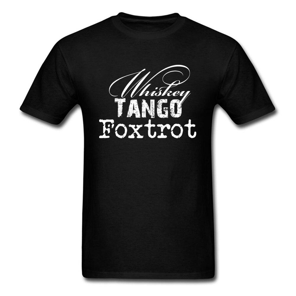 2018 Awesome T Shirt Men Whiskey Tango Foxtrot Tattoo Drawing T