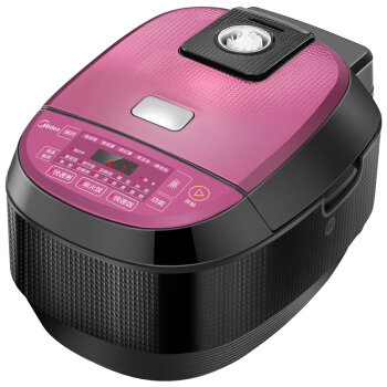 LK1708 IH Electromagnetic Heating Electric Rice Cooker Purple+black 3L Square Rice Cooker with Steel Liner Pot LCD Display