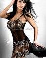 Nighties sensuais para As Mulheres MC2091 Frete Grátis Laço Floral Impresso Transparente Babydoll Alta Qualidade Sexy Sleepwear