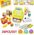 Nuevos niños juego casa supermercado juguetes niñas juguetes de la caja registradora con escáner con luz sonido juguetes de cocina para niños